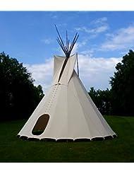 komplettes Ø 3m Tipi Indianerzelt Wigwam Indianer Zelt Sioux , YAKARI Style Indianertipi