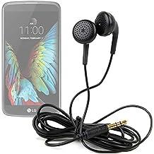 DURAGADGET Auriculares estéreo in ear en color negro para smartphone LG G350 , G5 , K10 , K3 , K4 , K5 , K7 3G , K7 LTE , K8 V , K8 , Optimus Zone 3 , P780