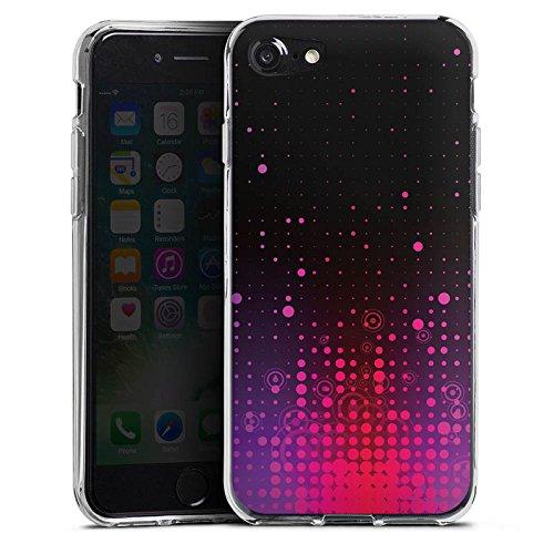 Apple iPhone X Silikon Hülle Case Schutzhülle Punkte Muster Pink Silikon Case transparent