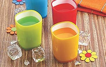 IRISH GLASS SET OF 6 MULTI COLOR