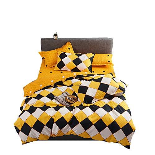 BFMBCH Explosion Modelle Neue Heimat voller Größe Bettwäsche einzigen gelben Häkchen DREI oder Vier Sätze von Bettwäsche A 220cm * 230cm (Gelb Voll Bettwäsche)