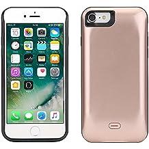 """Funda Batería iphone 7, Lenuo Funda Protectora Cargador con Batería 5200mAh Carcasa Protectora Recargable para iPhone 7 4.7"""", Color Oro Rosa"""