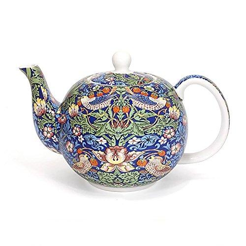 Leonardo Collection Bleu Strawberry Thief William Morris Théière en porcelaine