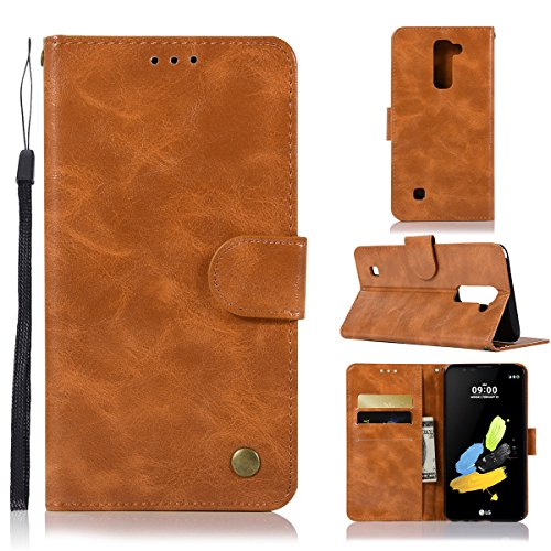casefirst LG G Stylo 2 Plus Wallet Case, [Folio Style ] Premium LG G Stylo 2 Plus Card Cases Stand Feature for LG G Stylo 2 Plus [Light Brown ] Pouch Flip Cover with Pouch (Custom Switch Light)