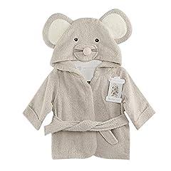 Idea Regalo - Fancyus Unisex neonato in cotone per neonato, accappatoio con cappuccio, accappatoio