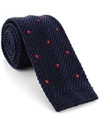Skinny Spot Silk Knitted Tie