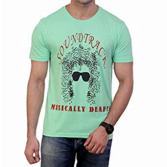 Wineberry Graphic T-Shirt for Men (Fabric: , Colour: Parrot Green, Size: Medium/40)