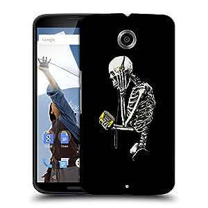 Snoogg Skeleton With Walkman Designer Protective Back Case Cover For MOTOROLA NEXUS 6