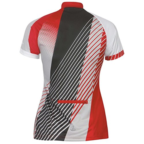 Löffler Femmes Perform T-Shirt Tee Top Haut Manches Courtes Cyclisme Velo Rouge