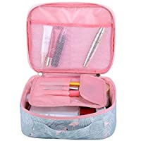‏‪Large-capacity Travel Makeup Cosmetic Bag Travel Shower Bags for Women Flamingo‬‏
