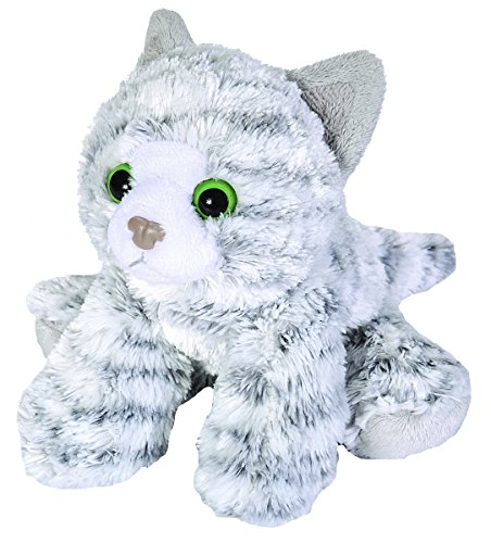 Wild Republic 18 cm Hug'ems Tabby Cat Plush Toy (Grey)