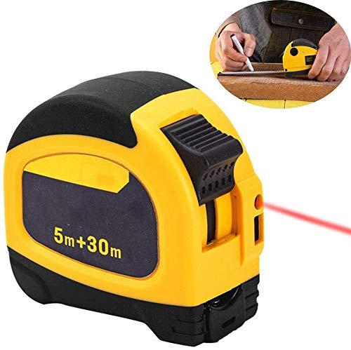 2 en 1 Cinta métrica de acero, Laser Ranging distancia 30 m, Display digital 2S Medición de velocidad...
