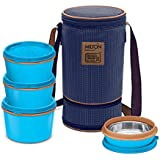 Milton Flexi Insulated Inner Stainless Steel Lunch Box Set, 4-Pieces, Blue