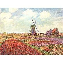 Poster Claude Monet - Tulpen von Holland 80x60 cm