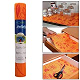 #2: HOKIPO PVC Anti Slip Mat Shelf Liner Roll, 30 x 150 cm, Flower Pattern, 1 Piece