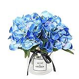 Veryhome ortensie artificiali fiori finti bouquet composizioni per matrimonio giardino decorazione floreale Blue
