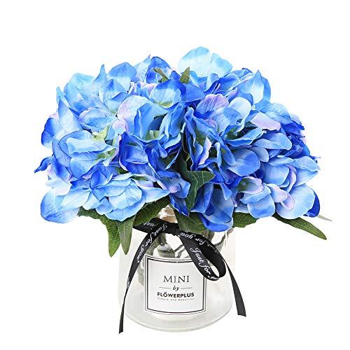 Veryhome fiore artificiale ortensia artificiale seta falso fiore mazzo di fiori arrangements casa nozze giardino floreale arredamento