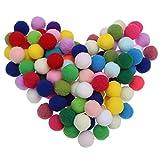 100pcs Pom Poms Pompoms Fluffy Balls Craft Assorted for Scrapbooking Sewing Modal Making (3cm)