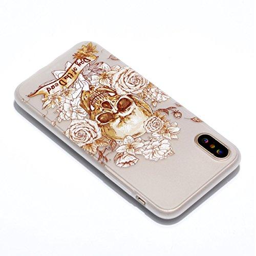 inShang iPhone X 5.8 inch Housse de Protection Etui [Transparent iPhone X 5.8 inch Coque] [Luminous dans l'obscurité]], Ultra mince et léger Case Cover de protection+ Qualite inShang Logo Pens Haute S Skeleton Rose