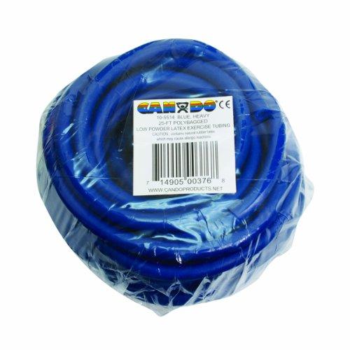 Power Tube, Widerstandstrainer für funktionales Training, Länge 7,6 m, Cando® Exercise Tube, blau (schwer) (Terra Tube)
