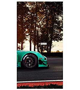 printtech Superfast Car Racing Road Back Case Cover for Acer Liquid Z530