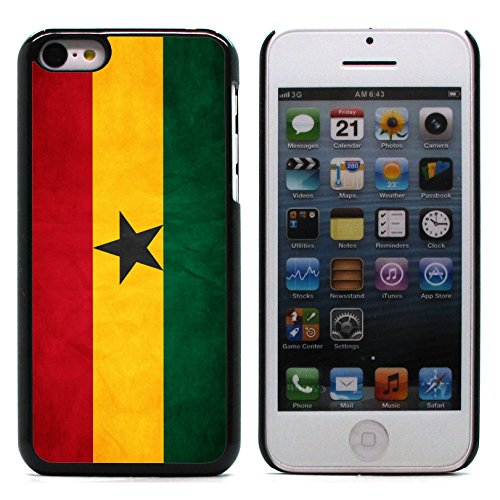 Graphic4You Vintage Uralt Flagge Von Senegal Senegalesisch Design Harte Hülle Case Tasche Schutzhülle für Apple iPhone 5C Ghana Ghanaer