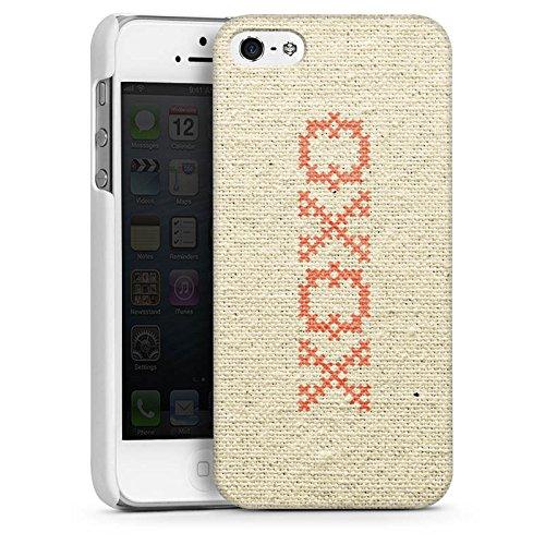 Apple iPhone 4 Housse Étui Silicone Coque Protection Bisou je t'aime Phrase Hugs Kisses Motif CasDur blanc