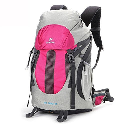 ALUK-Outdoor-Klettern Tasche Schulter Reisesuspendierung atmungsaktiv, wasserdichte Wander Schultern kleiner Rucksack Rose Red