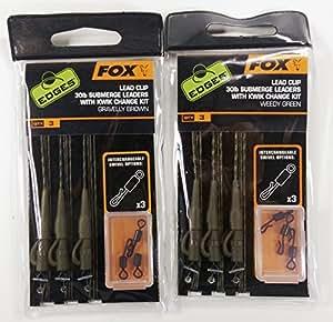 """Fox Head Edges Clip ploMB 30 lb s """"immerger DTI et herbes Vert Kit de Change rapide"""