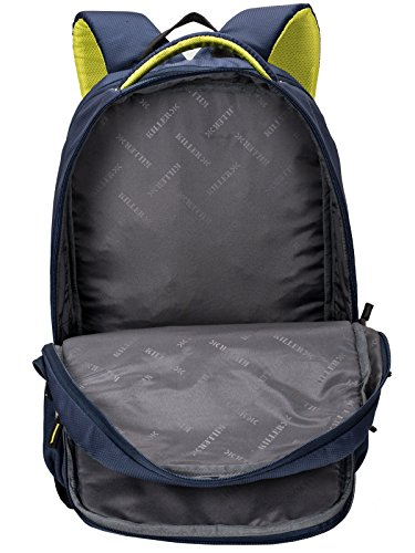 Killer Louis 38L Large Navy Blue Polyester Laptop Backpack with 3 Compartments Image 7