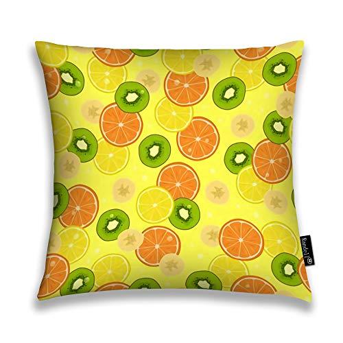 Avbvoxy Decorative Pillow Citrus Fruits Banana Pieces