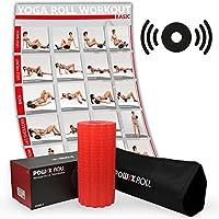 Preisvergleich für POWRX-Roll inkl. Tragetasche und Workout I Faszienrolle mit Tiefenvibration I Massagerolle I Vibrationsrolle mit 4 Vibrationsstufen