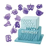 PENVEAT Günstige 40Stück/Set Alphabet Buchstaben Zahlen Kuchen Cutter Dekorative Werkzeuge Fondant Kuchen Keks Ausstechform Backform