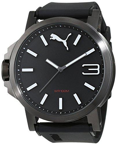 Hombre-reloj PUMA time 10346 ultra 50 - arma de tamaño Negro cuarzo analógico plástico PU103461019