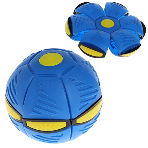 Fliegen UFO Flat Throw Disc Ball Mit LED-Licht Spielzeug Kid Outdoor Garden Beach Spiel - Licht Flat