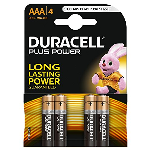 Duracell - Plus Power Batterie AAA, 4 Batterie