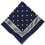 Betz Nickituch Bandana Richtfesttuch Halstuch klassisches Punktemuster Größe 55 x 55 cm 100% Baumwolle Farbe marine