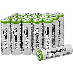 AmazonBasics Lot de 16 piles rechargeable Ni-MH Type AA 2000 mAh