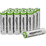 AmazonBasics Lot de 16 piles rechargeable Ni-MH Type AA 2000 mAh