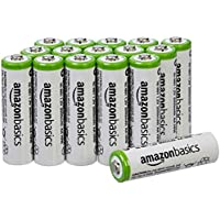 AmazonBasics AA NiMH Precharged Rechargeable Batteries (16 Pack, 2000 mAh)
