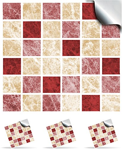 30-strawberry-crush-self-adhesive-mosaic-wall-tile-decals-for-150mm-6-inch-square-tiles-tp1-realisti