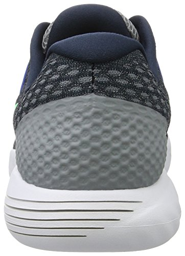 Nike Lunarglide 8, Scarpe da Corsa Uomo Blu (Armory Navy/electro Green-stealth)