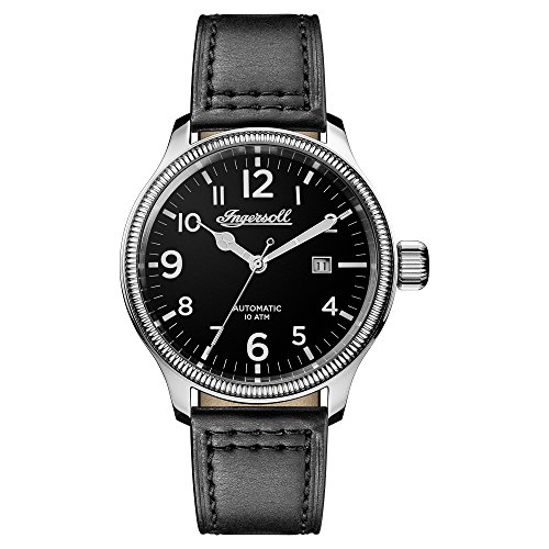 Ingersoll Men's The Apsley Automatic Watch with Black Dial and Black Leather Strap I02701