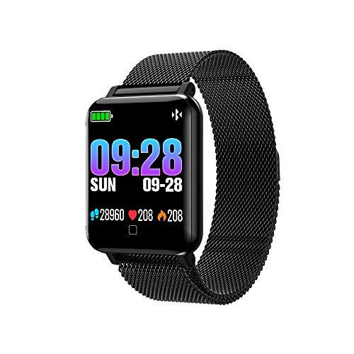 M19 Smart Watch Armband Sport Pedometer Puls Schlaf Blutdruckmonitor Laufen, Laufen Remote-Kamera Herzfrequenzmesser etc Smartwatch (Schwarz)