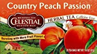 Celestial Seasonings Herb Tea, Country Peach Passion, Caffeine-free, 20-count Bags (Pack of 4)