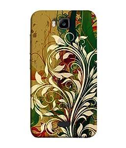 PrintVisa Designer Back Case Cover for Huawei Honor Bee :: Huawei Honor Bee Y5c (Floral Design In White)