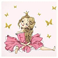 Wandaro Little Deco DL182 Wall Sticker Princess Butterflies I A4 21 x 29.7 cm I Balloon Children
