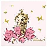Little Deco Wandtattoo Prinzessin Schmetterlinge I A4-21 x 29,7 cm I Luftballon Kinderbilder Deko Kinderzimmer Mädchen Aufkleber Sticker Wand Mädchenzimmer DL182