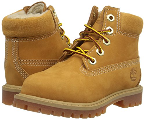 Timberland 6 Inch Premium with Faux Shearling Boot (Toddler/Little Kid/Big Kid), Wheat Nubuck, 5.5 M US Toddler