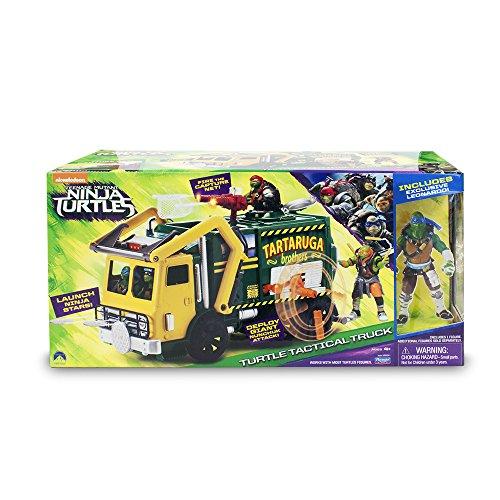 Image of Teenage Mutant Ninja Turtles Movie 2 Tactical Truck and Leonardo Figure